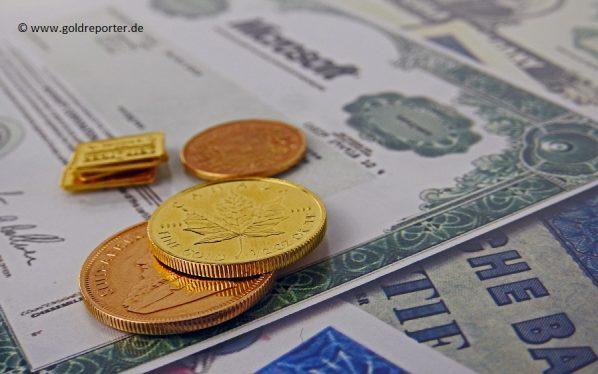 Gold, Aktien, Versicherung (Foto: Goldreporter)