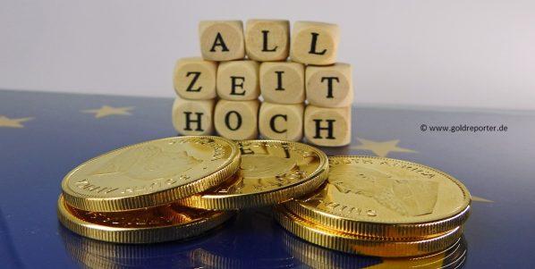 Goldpreis, Euro, Rekordhoch, Allzeithoch (Foto: Goldreporter)