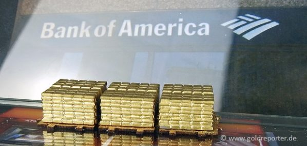 Gold, Goldpreis, Bank of America (Foto: Goldreporter)