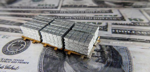 Silber, Silber-ETF, Silberbarren (Foto: Goldreporter)