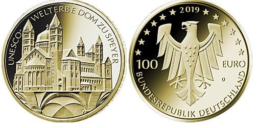 Goldmünze, 100 Euro, Speyer