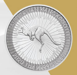 Silbermünze Känguru