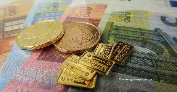 Gold, Goldmünzen, Goldbarren, Gold kaufen (Foto: Goldreporter)