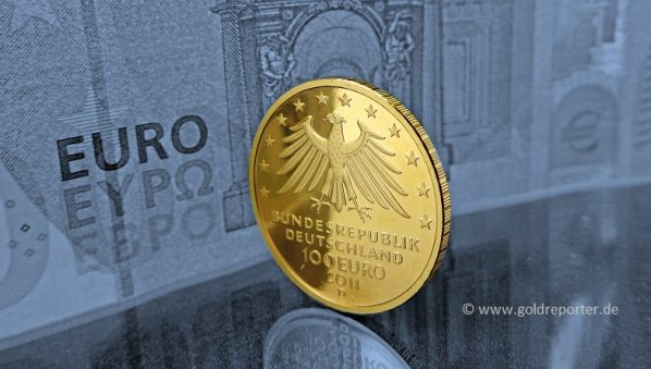 Gold, Goldmünze, Euro, BRD (Foto: Goldreporter)