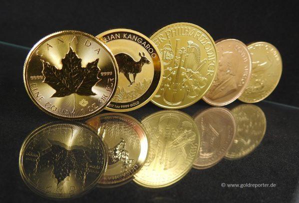 Goldmünzen, Geldanlage (Foto: Goldreporter)