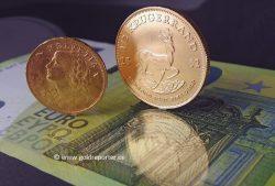 Gold, Goldmünzen, Vreneli, Krügerrand (Foto: Goldreporter)