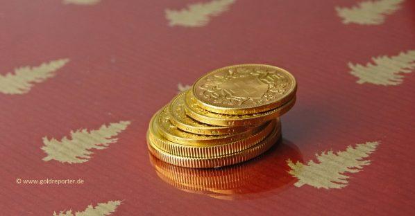 Gold, Goldmünzen, Goldpreis, Weihnachten (Foto: Goldreporter)