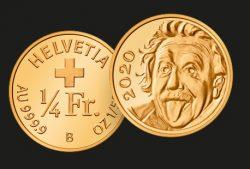 Goldmünze, Einstein, Swissmint
