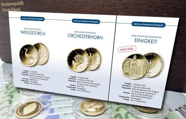 Gold, Goldmünzen, BRD, 2020 (Foto: Goldreporter / Münze Deutschland)