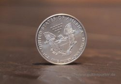 Silber. Silbermünze, American Eagle (Foto: Goldreporter)
