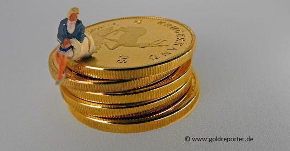Gold, Krügerrand, Goldmünzen (Foto: Goldreporter).