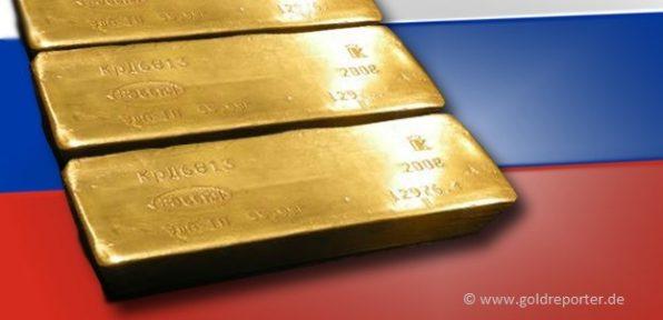 Gold, Goldreserven, Russland