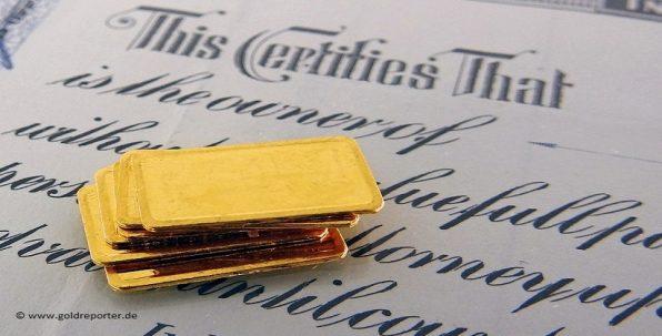 Gold, Papier-Gold, Forderung (Foto: Goldreporter)