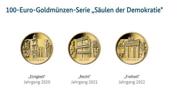 Goldmünzen, Deutschland, 100 Euro