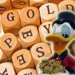 Gold-Würfel-Duck-Kontur