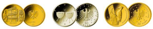 Goldmünzen, Euro, Deutschland