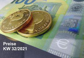 Goldmünzen, Preise, KW32