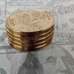 Staatsanleihen-Goldmünze-Dollar