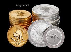 Känguru, Gold- und Silbermünzen 2022