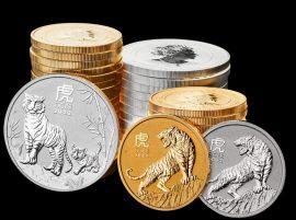 Lunar Serie III, Jahr des Tigers, Silber- und Goldmünzen