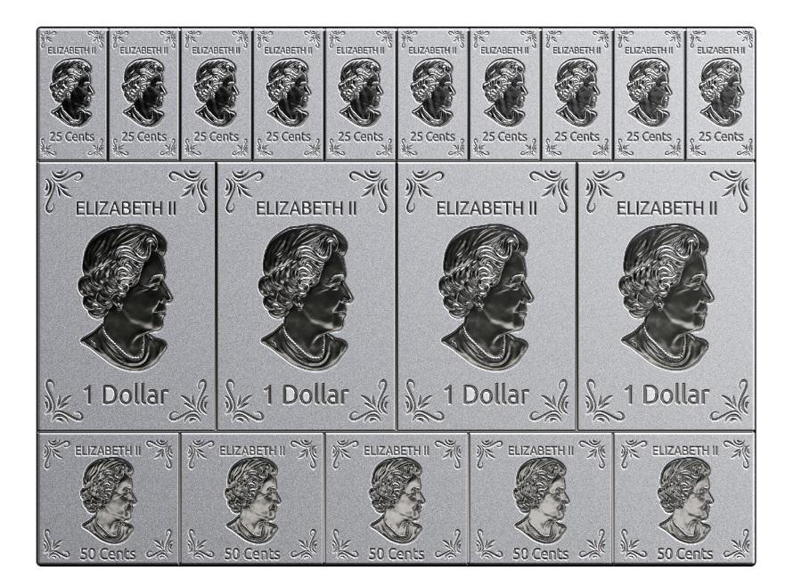 Mapleflex Silber  - Wertseite